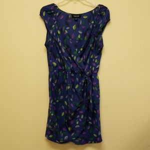 Charlie Jade 100% silk fuex wrap dress m107:5:418